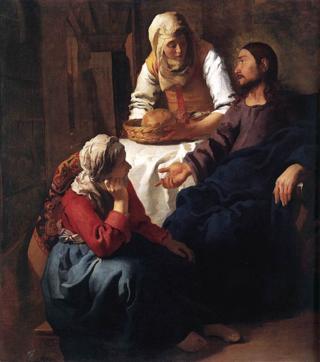 Vermeer Mary and Martha